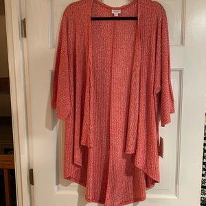 LuLaRoe red Lindsay kimono / cardigan M NWT